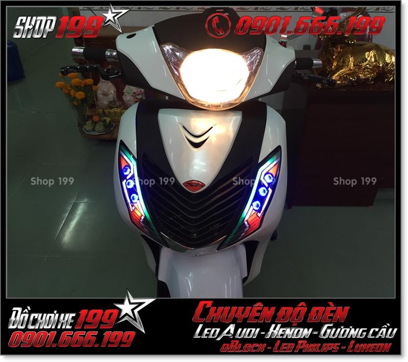 Chế đèn led audi xinhan trước cho xe SH 2009 2010 2011 chuyên nghiệp ở TPHCM Q6 2009-2019