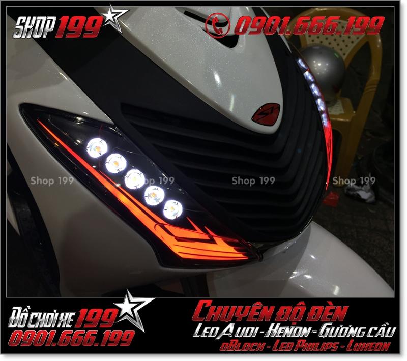 Chế đèn led audi xinhan trước cho xe SH 2009 2010 2011 chuyên nghiệp tại Tp HCM Quận 8 2003-2017
