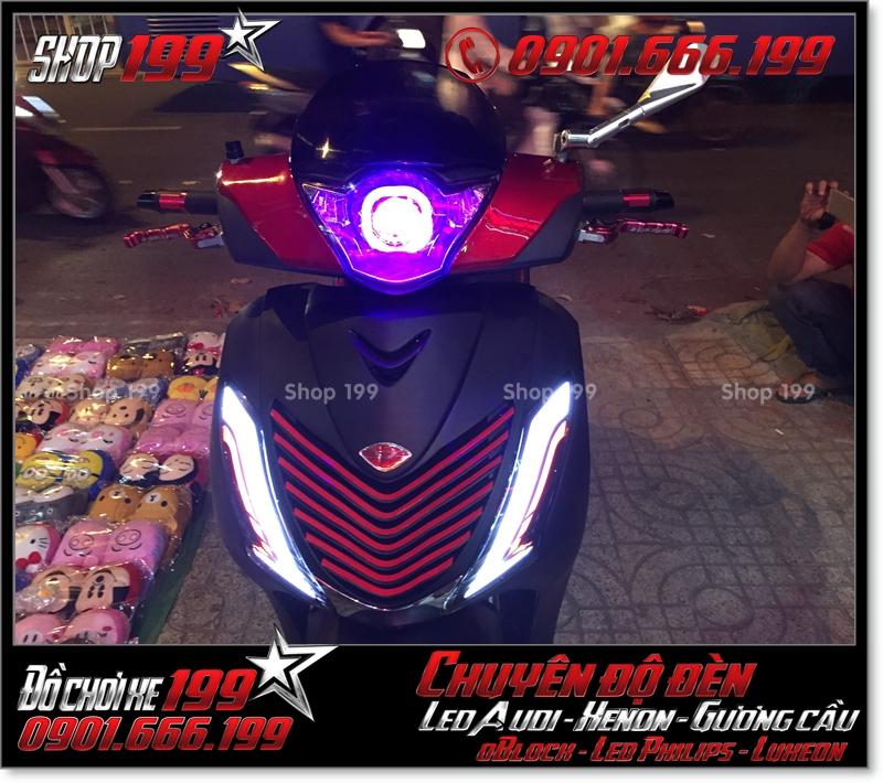 Độ đèn led cho xe máy honda SH Ý 2012 2013 2014 2015 2016 125i 150i đẹp cao cấp tại TPHCM Q4 2006-2013