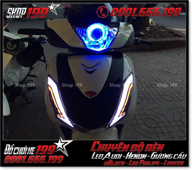 Độ đèn led cho xe máy honda SH Việt 2012 2013 2014 2015 2016 125i 150i đẹp mắt cao cấp ở HCM Q1 2007-2018