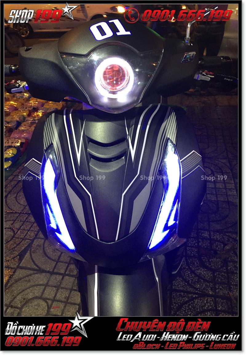 Chế đèn led gương cầu cho xe máy honda SH Việt 2012 2013 2014 2015 2016 125i 150i đẹp cao cấp tại Tp HCM Quận 10 2004-2014