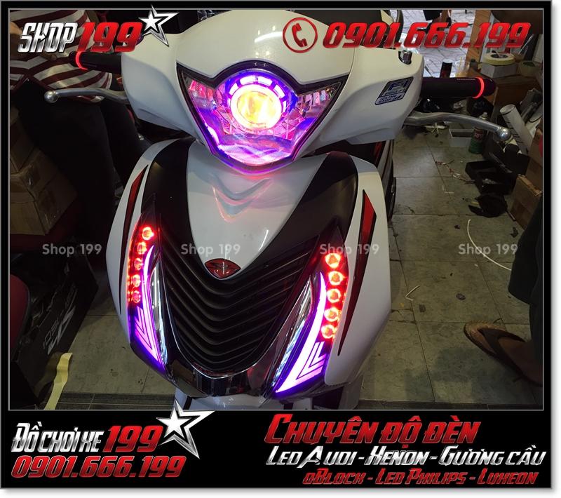 Hình ảnh xe SH Việt Nam độ đèn gương cầu và làm led audi mẫu sang trọng - Liên hệ: 0901666199