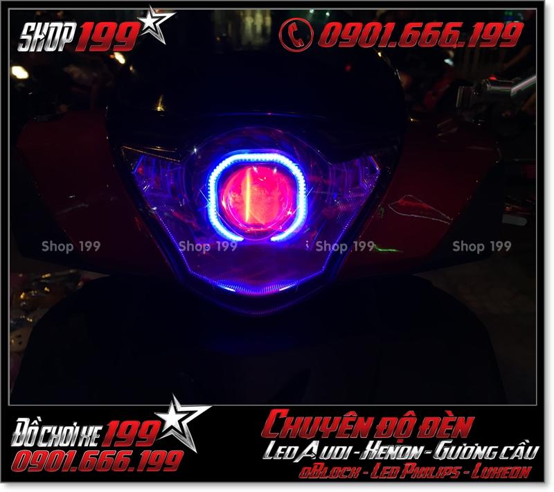 Độ đèn led cho xe máy SH Ý 2012 2013 2014 2015 2016 125i 150i đẹp mắt sang trọng tại Tp HCM Quận 8 2003-2012