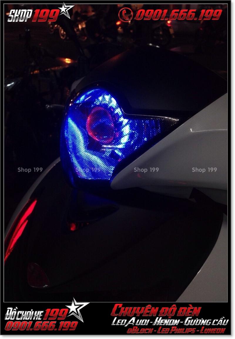 Độ đèn gương cầu cho xe máy honda SH Việt Nam 2012 2013 2014 2015 2016 125i 150i đẹp đẳng cấp ở HCM Quận 8 2000-2017