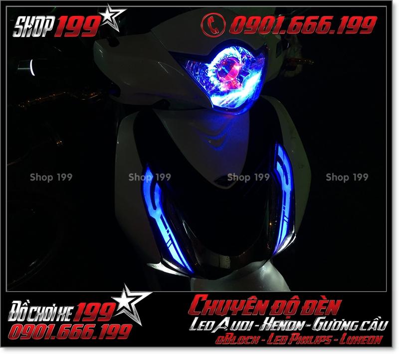 Chế đèn led cho xe máy SH Việt 2012 2013 2014 2015 2016 125i 150i đẹp đẳng cấp tại TPHCM Quận 7 2008-2016