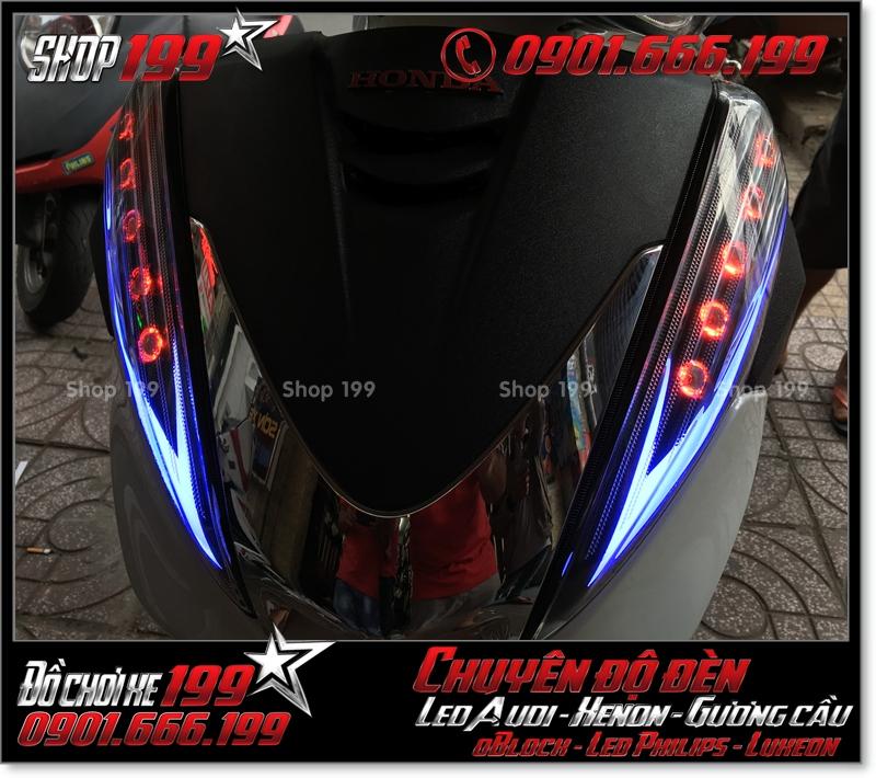 Chế đèn led audi cho xe máy SH 300i đẹp đẳng cấp tại HCM Quận 4 2001-2011