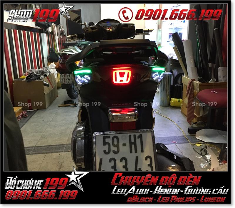 Chế đèn led audi cho xe máy SH Việt 2012 2013 2014 2015 2016 125i 150i đẹp đẳng cấp tại HCM Quận 3 2001-2019
