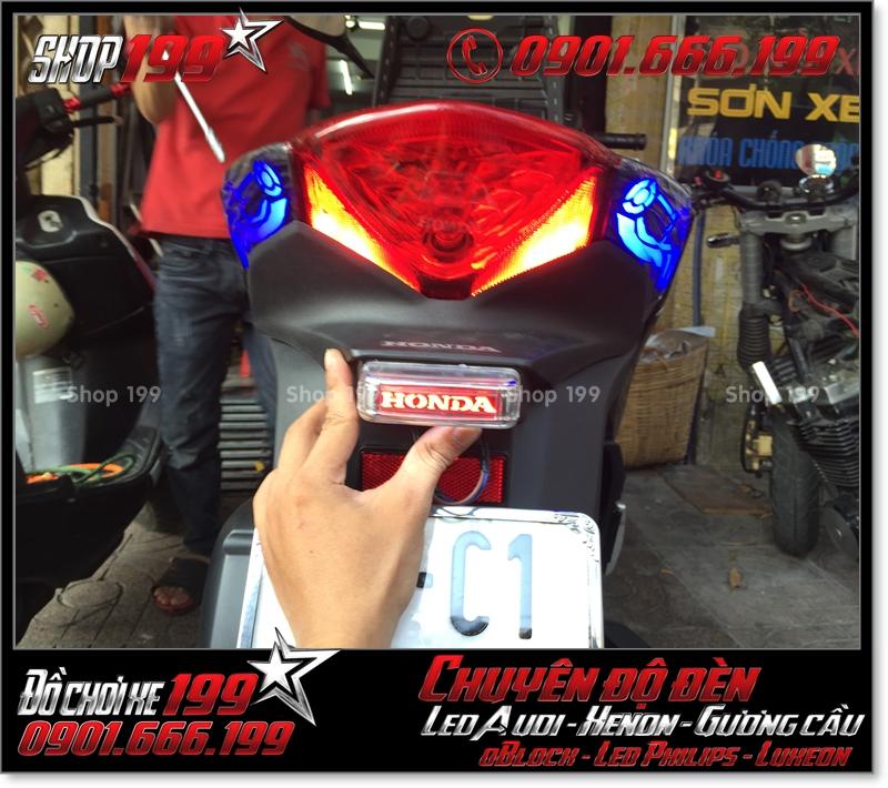 Độ đèn led audi cho xe máy SH Việt Nam 2012 2013 2014 2015 2016 125i 150i đẹp sang trọng ở TPHCM Quận 12 2006-2019
