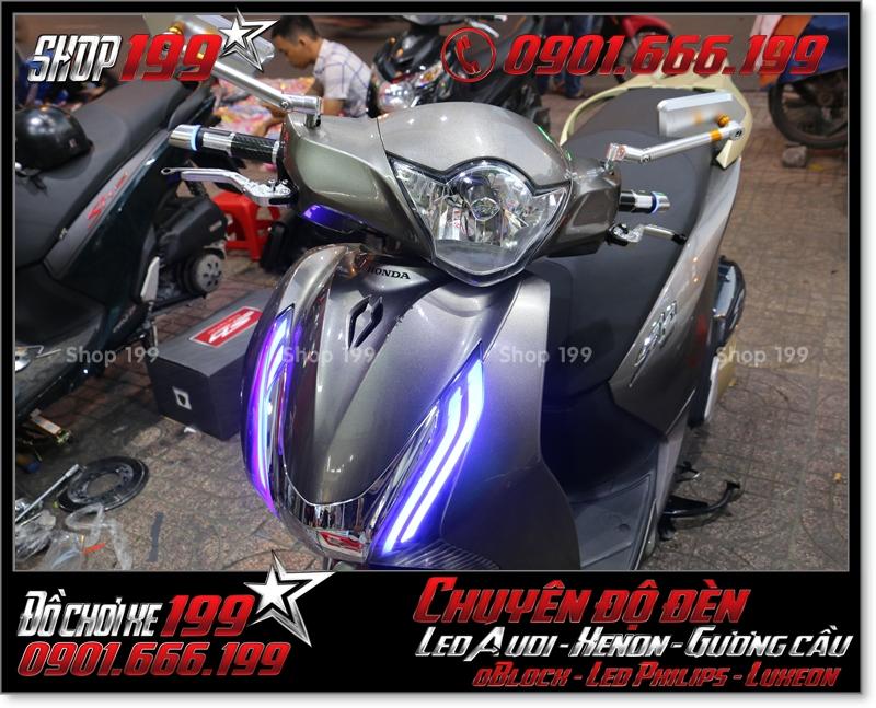 Chế đèn led audi cho xe máy SH VN 2012 2013 2014 2015 2016 125i 150i đẹp cao cấp ở TPHCM Quận 11 2009-2017