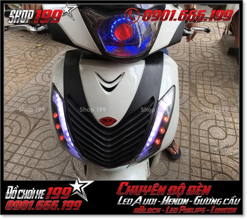 Chế đèn led audi cho xe máy SH Việt 2012 2013 2014 2015 2016 125i 150i đẹp cao cấp tại Tp HCM Quận 5 2002-2019