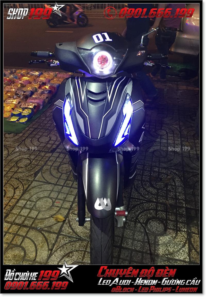 Làm đèn led audi cho xe máy honda SH VN 2012 2013 2014 2015 2016 125i 150i đẹp mắt cao cấp ở TPHCM Q11 2002-2017
