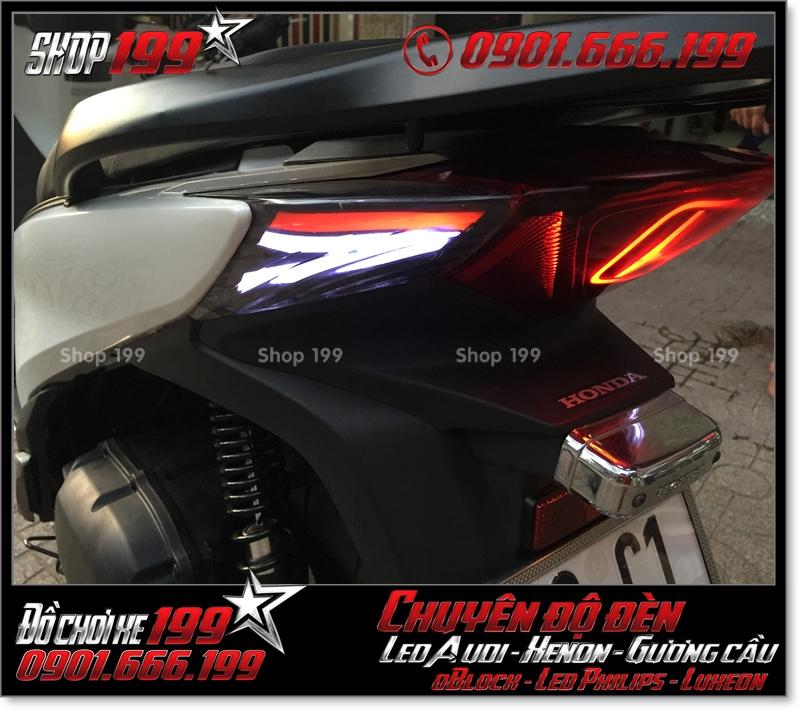 Độ đèn led audi cho xe máy SH Việt 2012 2013 2014 2015 2016 125i 150i đẹp sang trọng tại Tp HCM Q3 2008-2018