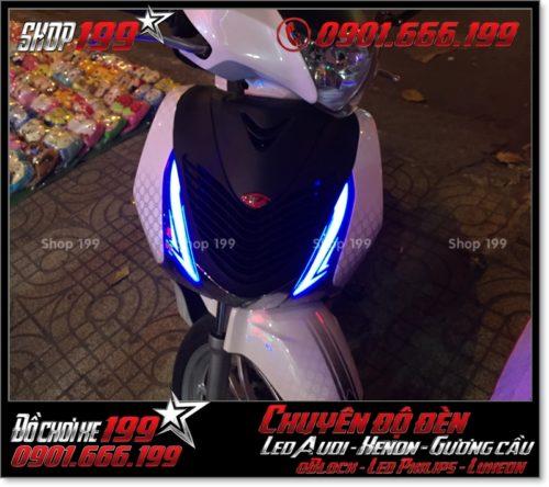 Chế đèn led audi cho xe máy honda SH Việt Nam 2012 2013 2014 2015 2016 125i 150i đẹp mắt cao cấp ở HCM Quận 2 2007-2016