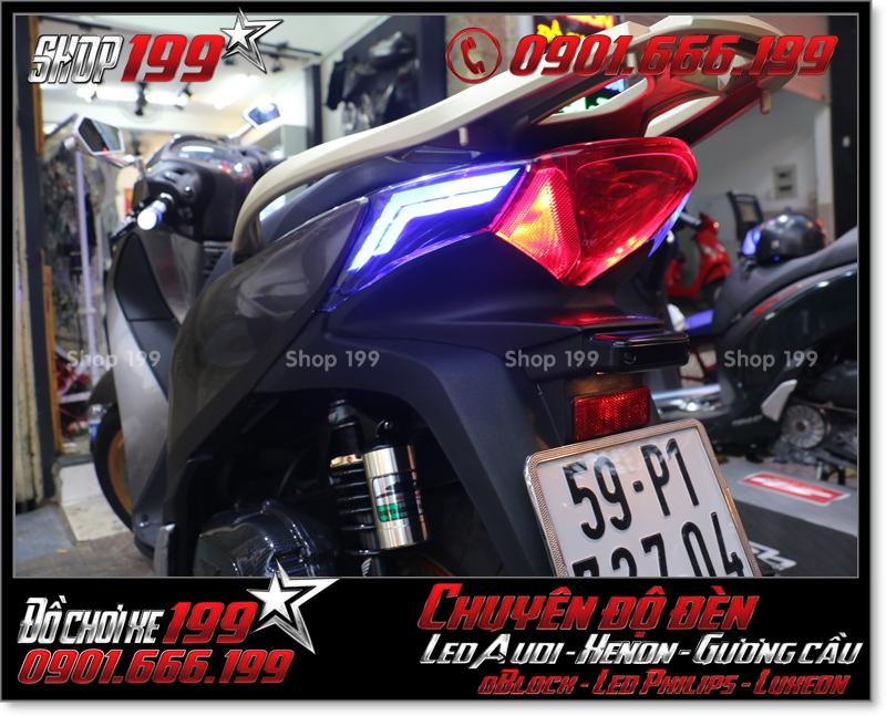 Làm đèn led audi cho xe máy SH Việt 2012 2013 2014 2015 2016 125i 150i đẹp sang trọng ở HCM Quận 9 2004-2019