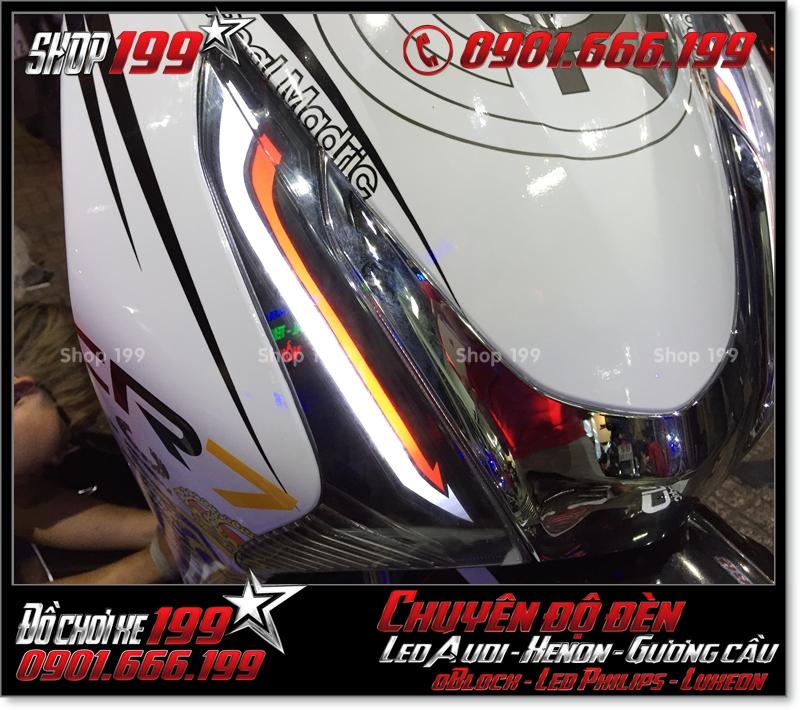 Độ đèn led audi cho xe máy honda SH Việt Nam 2012 2013 2014 2015 2016 125i 150i đẹp mắt đẳng cấp tại TPHCM Q9 2006-2017