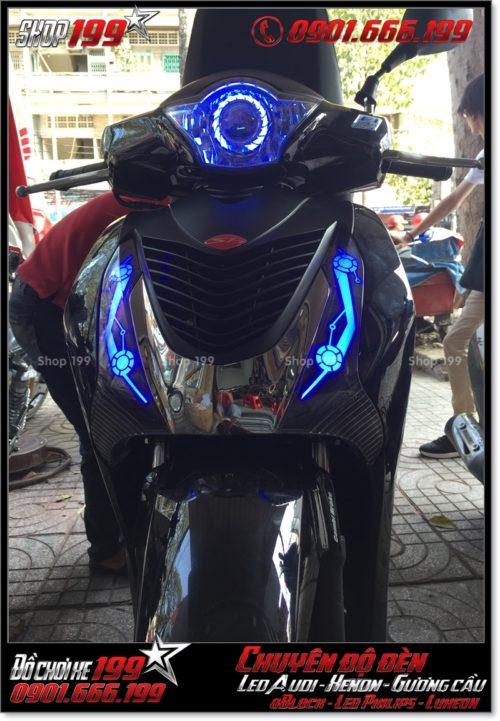 Làm đèn led audi cho xe máy SH Việt 2012 2013 2014 2015 2016 125i 150i đẹp đẳng cấp tại TPHCM Q11 2000-2017