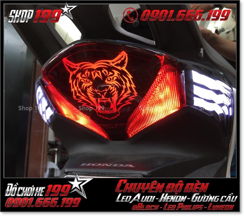 Chế đèn led audi cho xe máy SH VN 2012 2013 2014 2015 2016 125i 150i đẹp đẳng cấp tại HCM Tân Bình 2004-2017