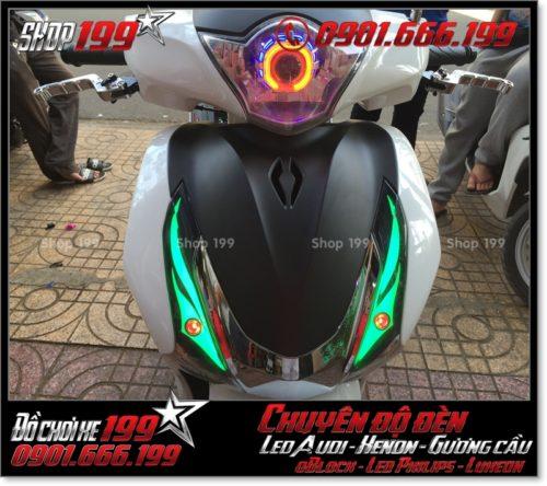 Độ đèn led audi cho xe máy SH VN 2012 2013 2014 2015 2016 125i 150i đẹp sang trọng ở TPHCM Q8 2007-2018