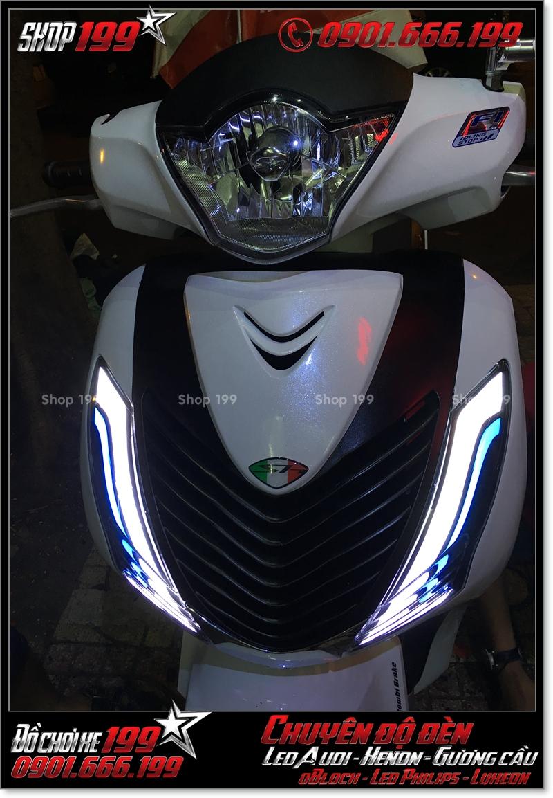 Độ đèn led audi cho xe máy honda SH Việt 2012 2013 2014 2015 2016 125i 150i đẹp mắt đẳng cấp tại Tp HCM Q1 2006-2018