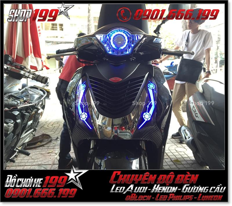 Chế đèn led audi cho xe máy honda SH VN 2012 2013 2014 2015 2016 125i 150i đẹp mắt cao cấp ở Tp HCM Quận 11 2005-2019