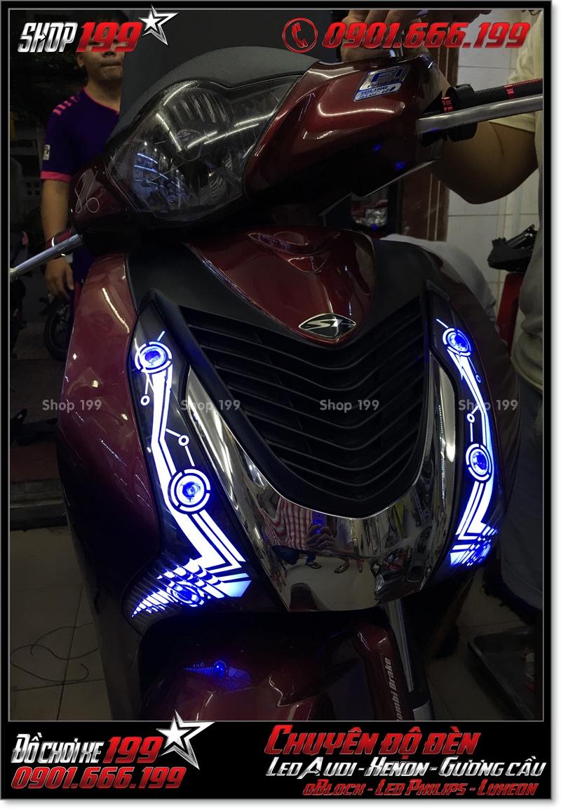 Độ đèn led audi cho xe máy SH Việt 2012 2013 2014 2015 2016 125i 150i đẹp mắt cao cấp ở Tp HCM Quận 3 2001-2019