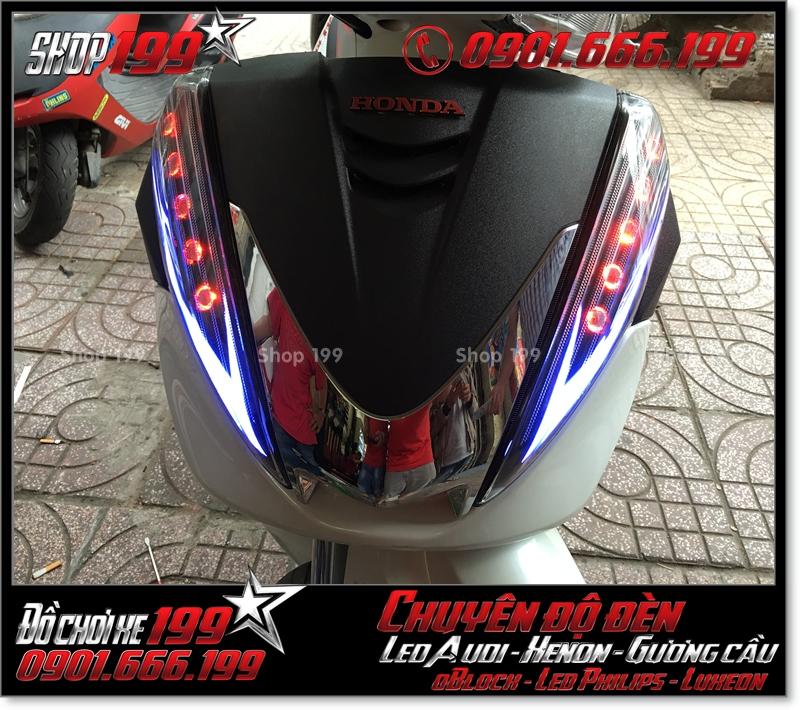 Chế đèn led audi cho xe máy SH 300i đẹp mắt đẳng cấp ở Tp HCM Q2 2005-2014