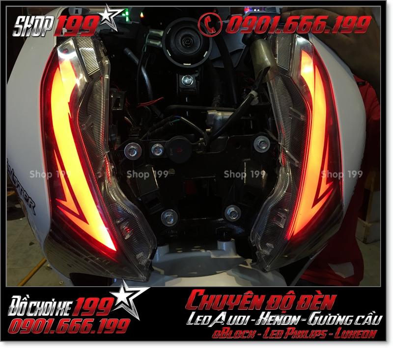 Độ đèn led audi cho xe máy SH Việt 2012 2013 2014 2015 2016 125i 150i đẹp sang trọng ở HCM Quận 1 2007-2017