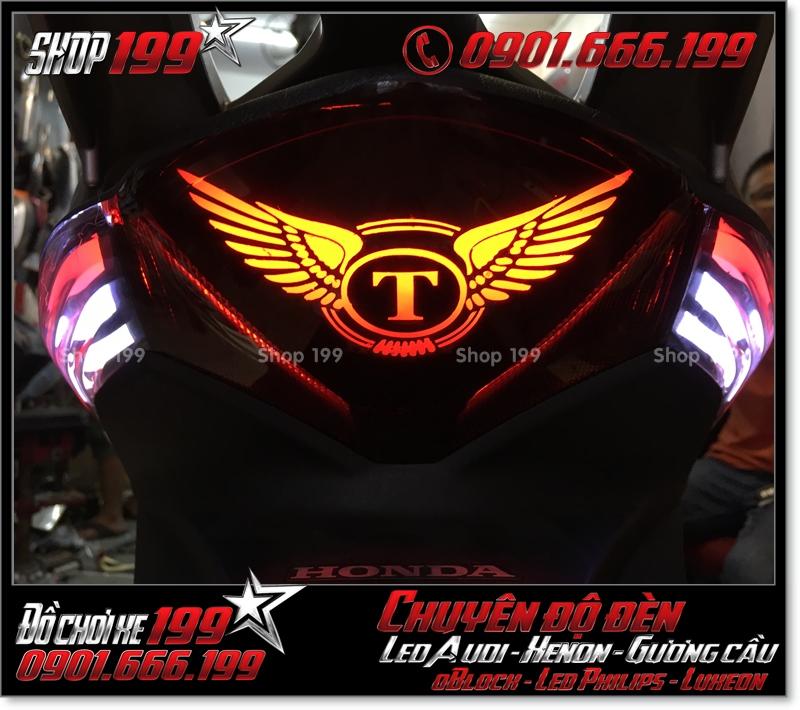 Chế đèn led audi cho xe máy honda SH Việt Nam 2012 2013 2014 2015 2016 125i 150i đẹp mắt đẳng cấp ở Tp HCM Tân Bình 2007-2019
