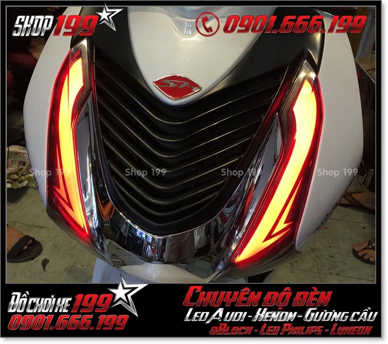 Độ đèn led audi cho xe máy SH Việt Nam 2012 2013 2014 2015 2016 125i 150i đẹp đẳng cấp tại HCM Q7 2002-2019
