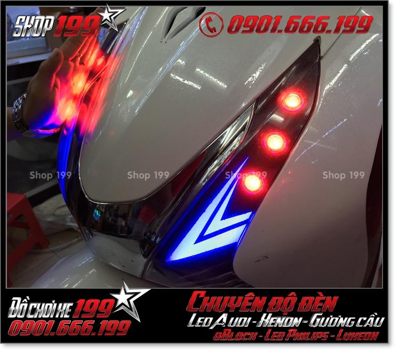 Làm đèn led audi cho xe máy SH Việt Nam 2012 2013 2014 2015 2016 125i 150i đẹp sang trọng ở TPHCM Quận 1 2008-2017