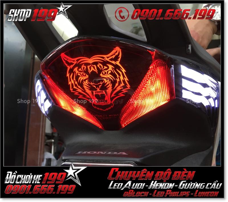 Làm đèn led audi cho xe máy honda SH Việt 2012 2013 2014 2015 2016 125i 150i đẹp mắt đẳng cấp ở TPHCM Q8 2006-2016