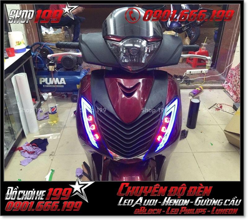 Làm đèn led audi cho xe máy honda SH VN 2012 2013 2014 2015 2016 125i 150i đẹp mắt cao cấp tại HCM Quận 12 2006-2018