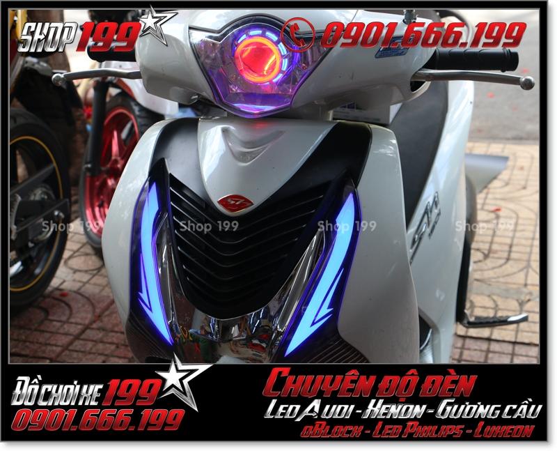 Độ đèn led audi cho xe máy SH Việt 2012 2013 2014 2015 2016 125i 150i đẹp cao cấp ở HCM Quận 9 2005-2016