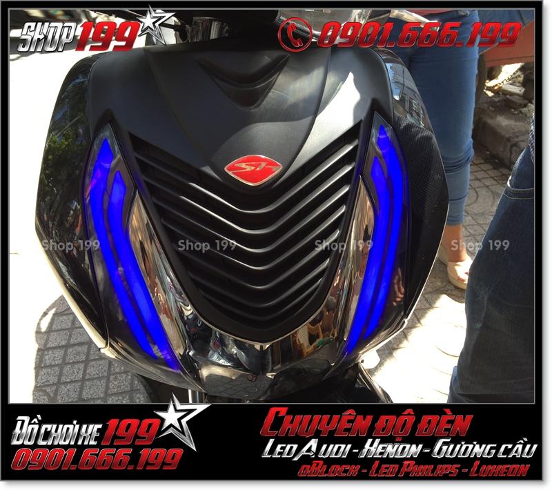 Làm đèn led audi cho xe máy honda SH Việt Nam 2012 2013 2014 2015 2016 125i 150i đẹp mắt cao cấp ở Tp HCM Quận 5 2005-2018