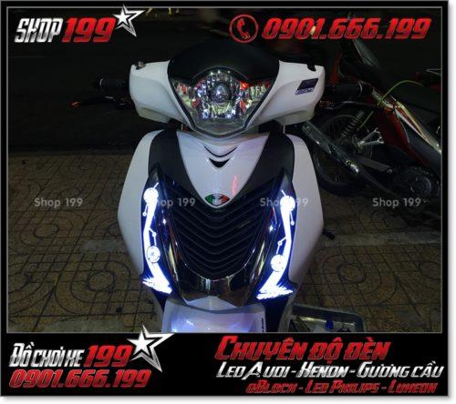 Độ đèn led audi cho xe máy honda SH Việt Nam 2012 2013 2014 2015 2016 125i 150i đẹp mắt sang trọng ở TPHCM Q6 2001-2016