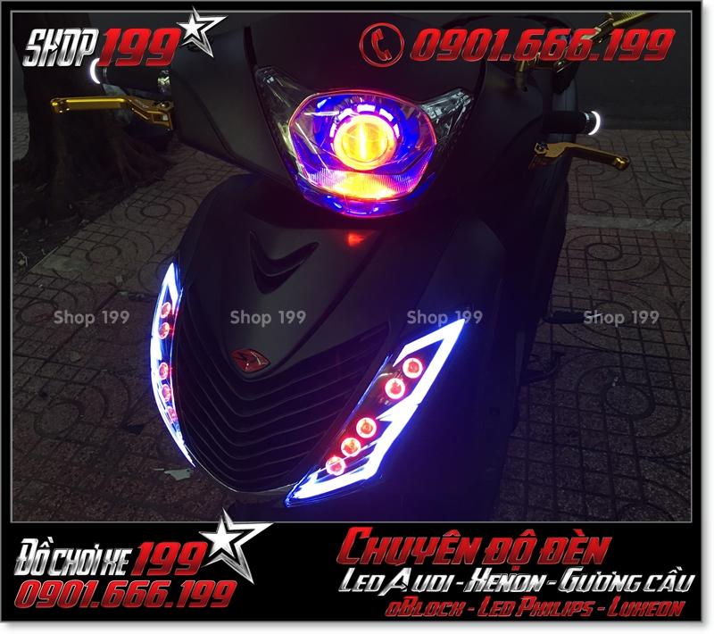 Làm đèn led audi cho xe máy honda SH Việt Nam 2012 2013 2014 2015 2016 125i 150i đẹp cao cấp tại TPHCM Q7 2007-2018