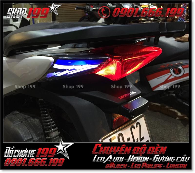 Làm đèn led audi cho xe máy SH Việt 2012 2013 2014 2015 2016 125i 150i đẹp mắt sang trọng ở TPHCM Quận 7 2000-2019