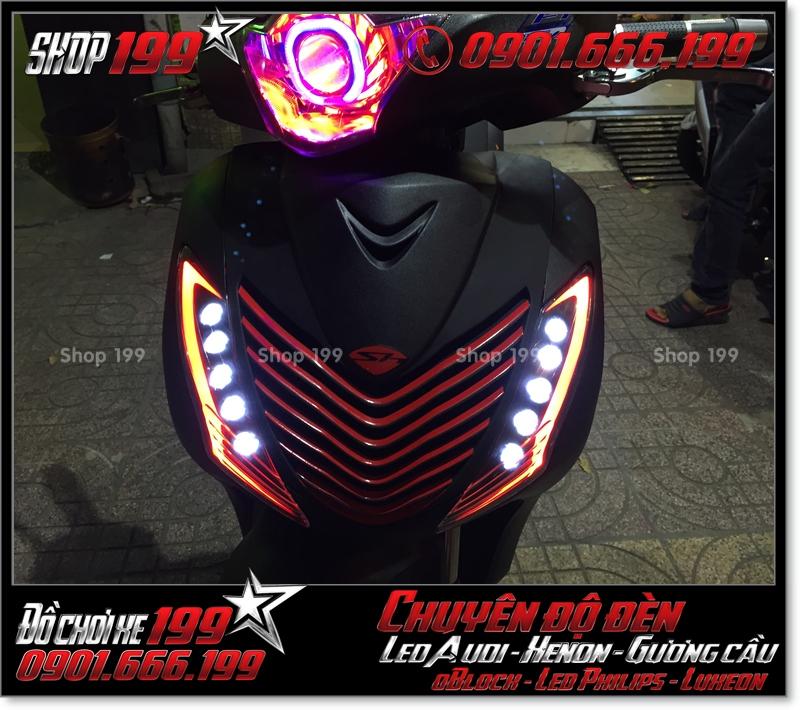 Làm đèn led audi cho xe máy honda SH Việt Nam 2012 2013 2014 2015 2016 125i 150i đẹp mắt đẳng cấp tại Tp HCM Q8 2007-2019