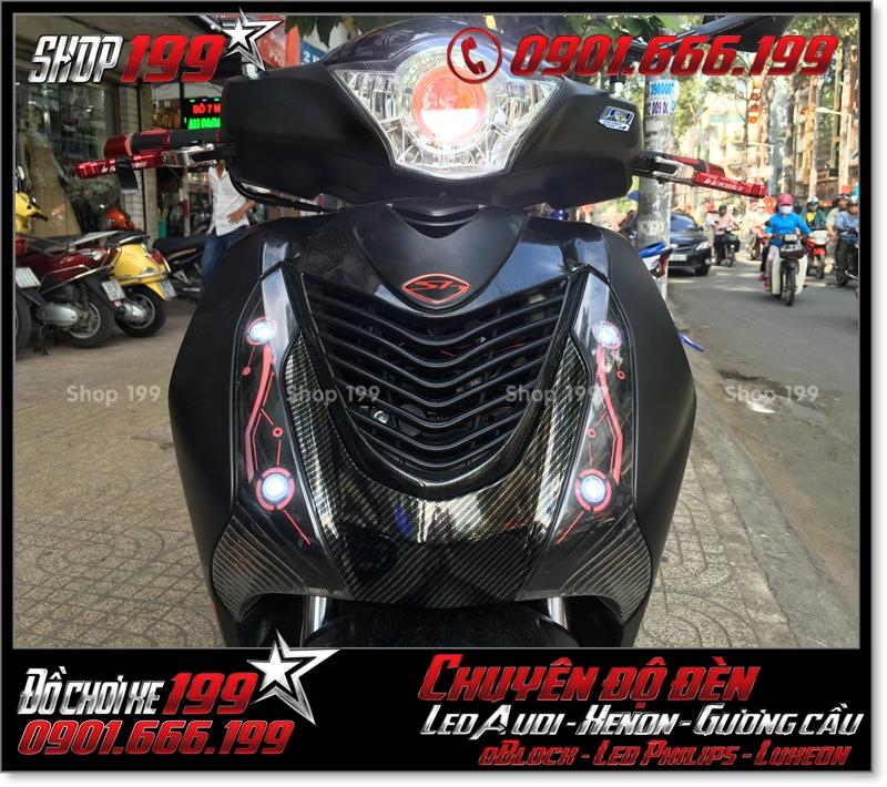 Độ đèn led audi cho xe máy SH Việt 2012 2013 2014 2015 2016 125i 150i đẹp mắt cao cấp tại HCM Quận 8 2008-2019