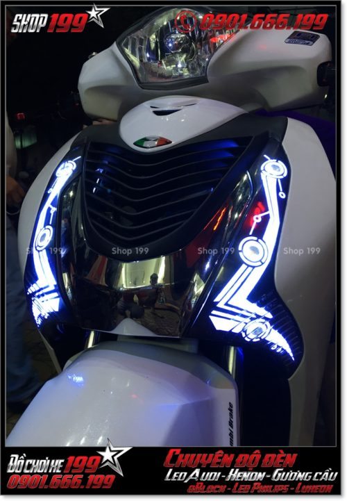 Làm đèn led audi cho xe máy SH Việt Nam 2012 2013 2014 2015 2016 125i 150i đẹp mắt đẳng cấp ở HCM Tân Bình 2001-2016