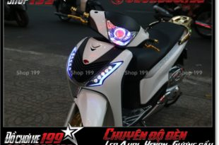 Độ đèn led audi cho xe máy SH Ý 2012 2013 2014 2015 2016 125i 150i đẹp đẳng cấp ở HCM Q2 2004-2019