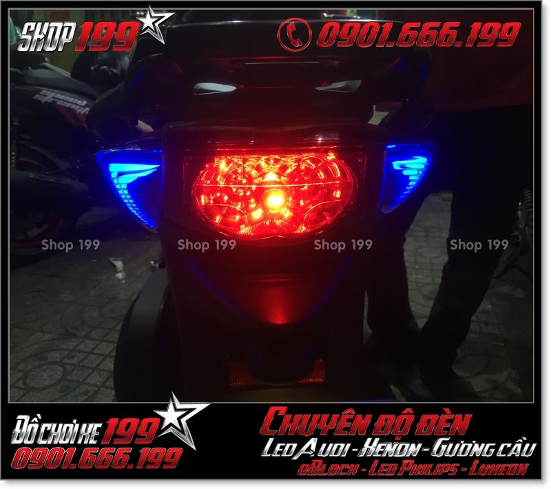 Độ đèn led audi đèn sau xinhan sau cho xe SH nhập Ý 2009 2010 2011 chuyên nghiệp tại HCM Q7 2008-2018