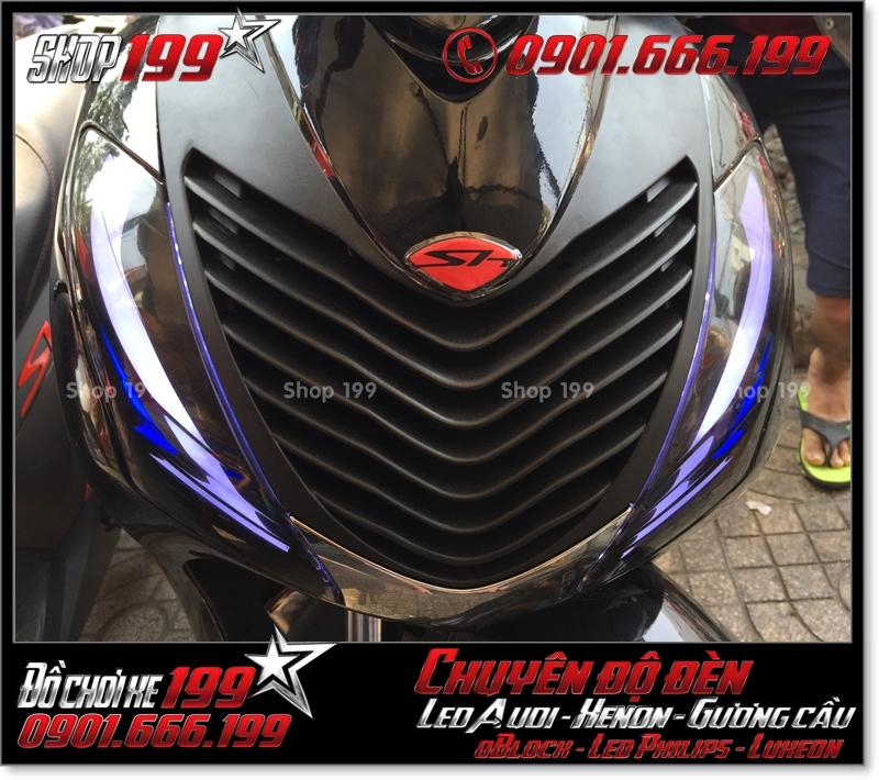 Độ đèn led audi xinhan trước cho xe honda SH 2009 2010 2011 chuyên nghiệp ở HCM Q12 2000-2016