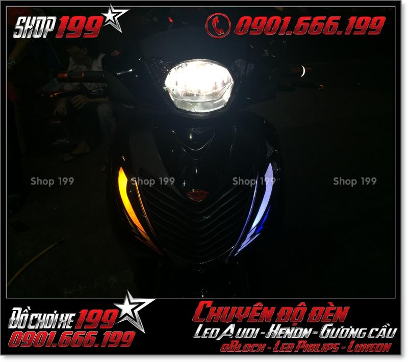 Độ đèn led audi xinhan trước cho xe honda SH 2009 2010 2011 chuyên nghiệp ở TPHCM Q9 2009-2018