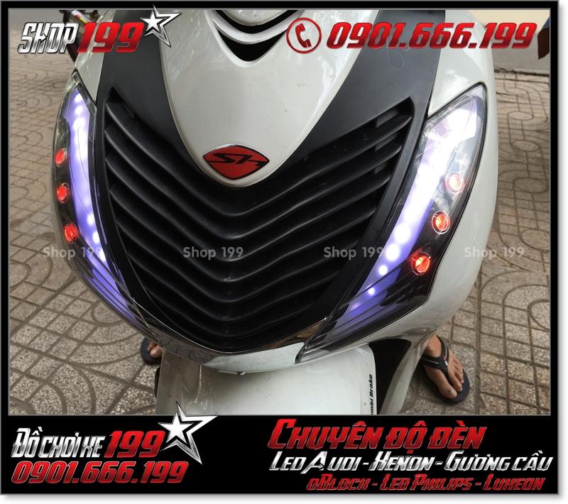 Độ đèn led audi xinhan trước cho xe honda SH 2009 2010 2011 chuyên nghiệp tại Sài Gòn Q11 2006-2019