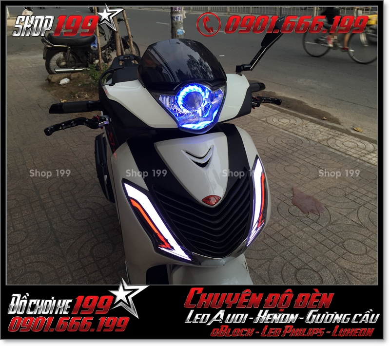 Độ đèn led audi xinhan trước cho xe SH 2009 2010 2011 chuyên nghiệp tại TP Hồ Chí Minh Q3 2000-2019