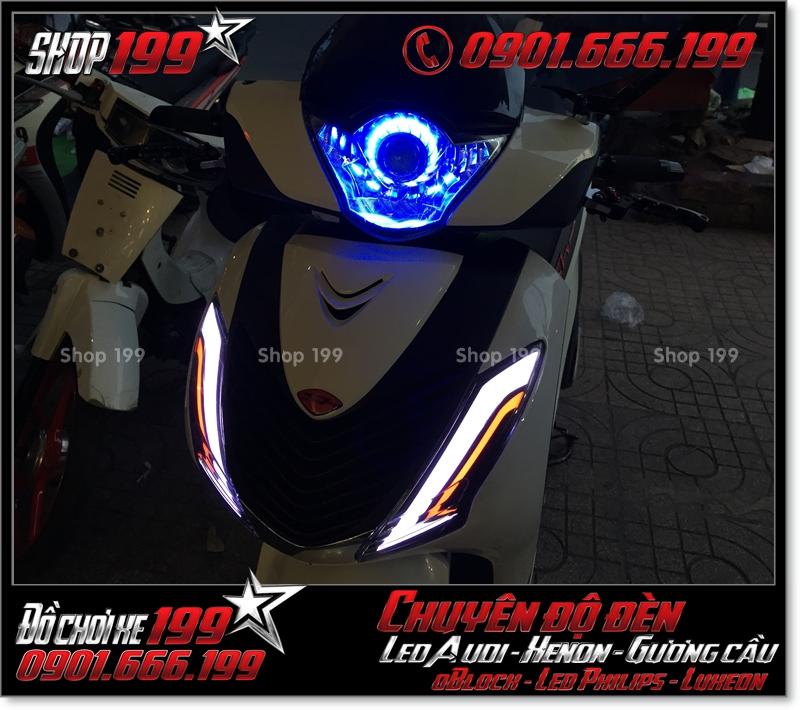 Làm đèn led cho xe máy SH Nhập 2012 2013 2014 2015 2016 125i 150i đẹp mắt sang trọng tại Tp HCM Q1 2008-2019
