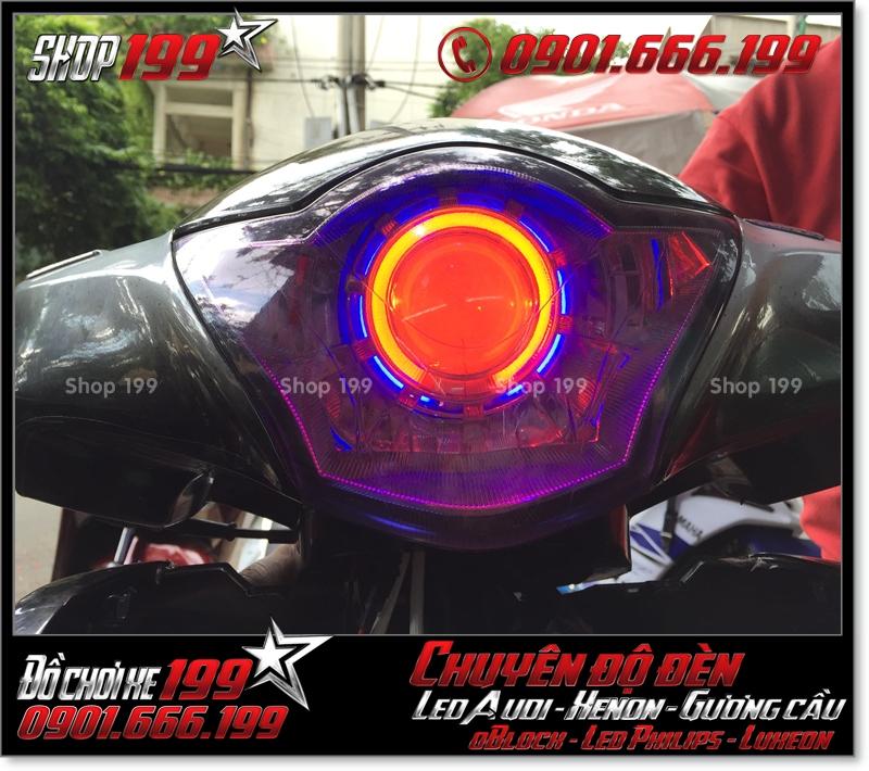 Độ đèn led cho xe máy SH Nhập Ý 2008 150i đẹp mắt cao cấp ở Tp HCM Quận 2 2007-2016
