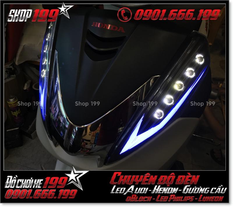 Hình chế đèn led audi cho xe máy honda SH 300i 2008 2016 2016 đẹp mắt đẳng cấp ở TPHCM Quận 8 2000-2019