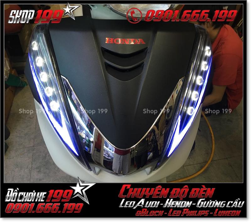 Hình ảnh chế đèn led audi cho xe máy SH 300i 2008 2016 2016 đẹp cao cấp tại TPHCM Q5 2008-2012
